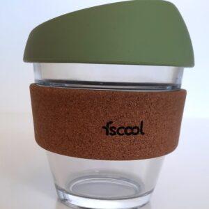 Hordozható kávéspohár, olívazöld