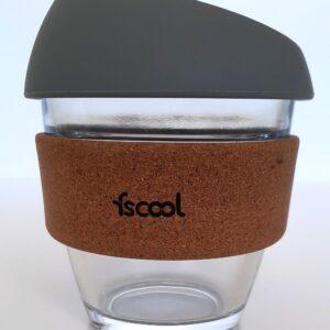 Hordozható kávéspohár, szürke