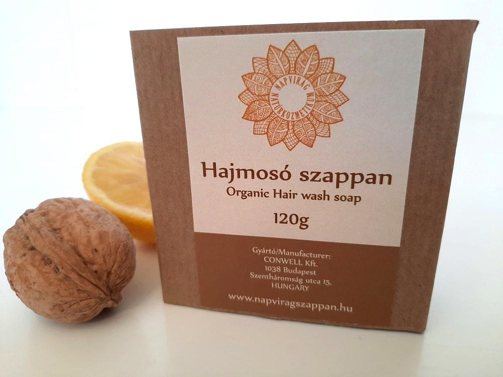 Napvirág hajmosó szappan ricinus- és dióolajjal, citrom illattal, 120g
