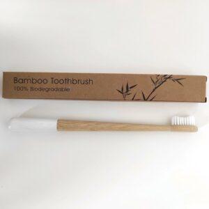 bambusz fogkefe fehér 1 db