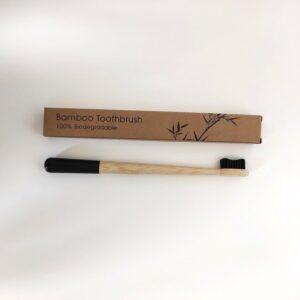 bambusz fogkefe fekete 1 db