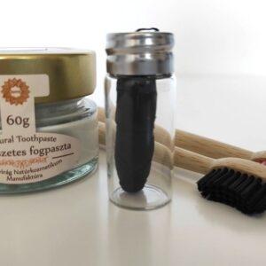 fahéjas citromos fogkrém, fogselyem, bambusz fogkefe