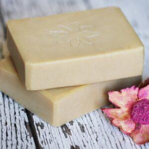 Napvirág natúr szappan shea vajjal és organikus vanília- és ylang ylang illóolajjal