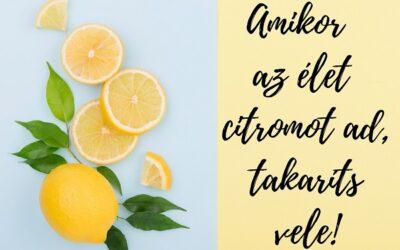 Amikor az élet citromot ad, takaríts vele!